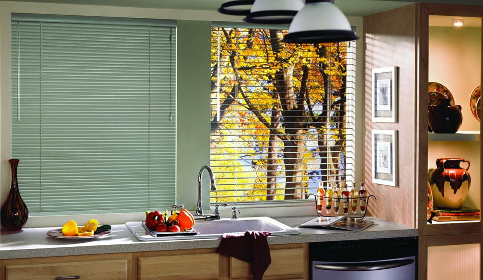 Control the light with Modern Precious Metals Aluminum Blinds