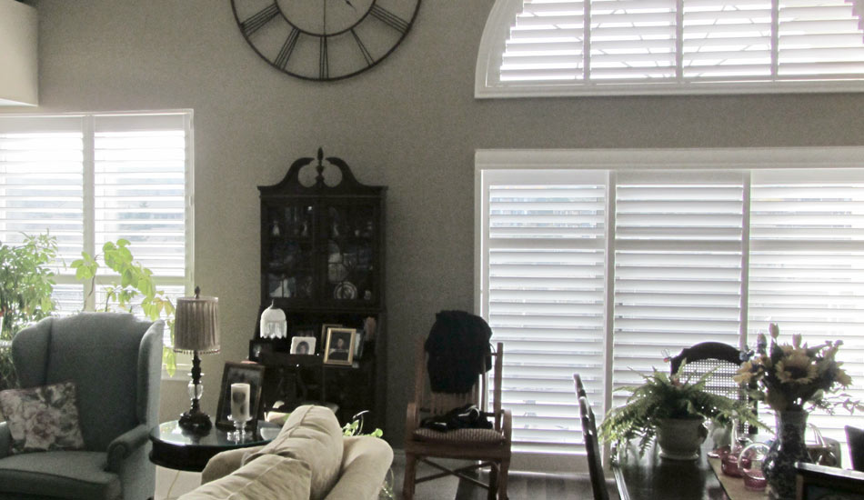 Cover your arch with Eclipse Vinyl Shutters