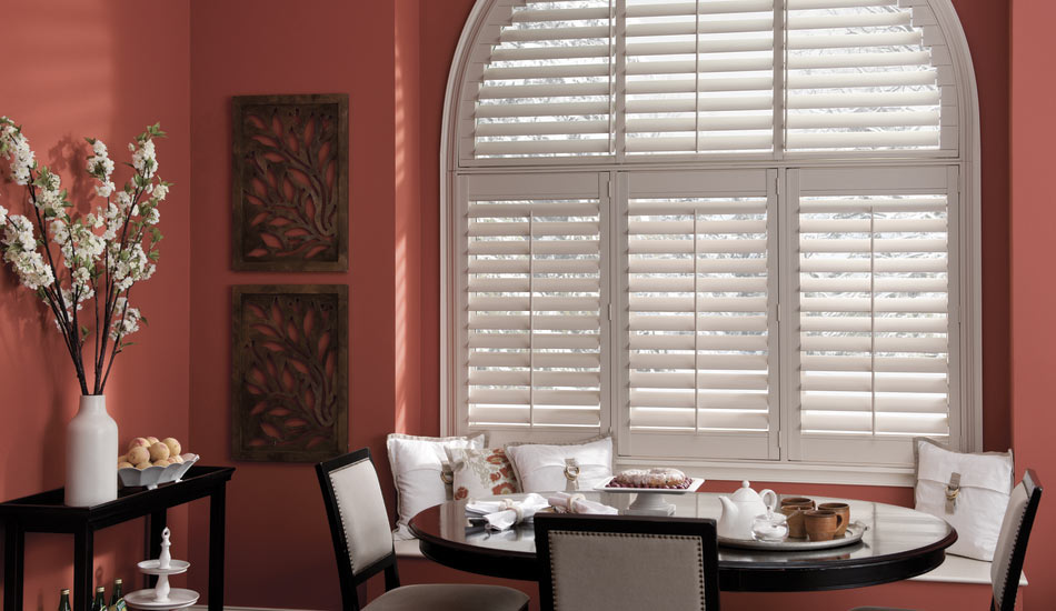 Eclipse Vinyl Shutters in Dining Room
