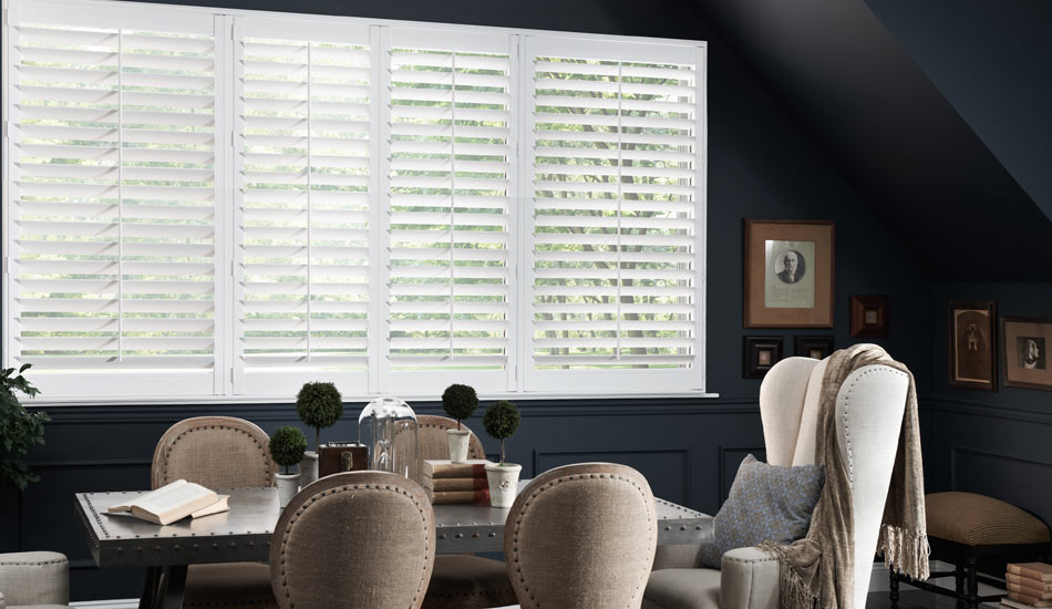 Shutters are always a nice and clean way to cover your windows