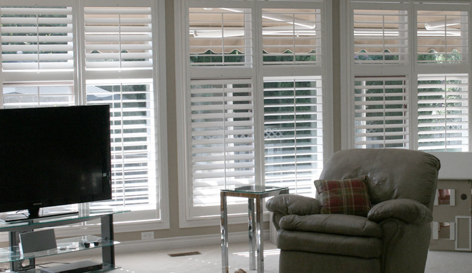 Shutters in Living Room by Blind Advantage