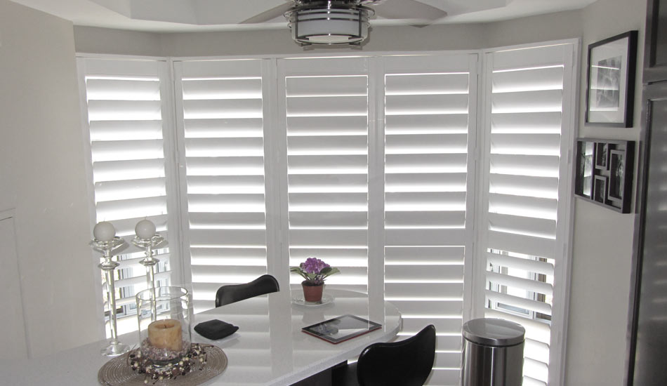 Shutters on Bow Window by Blind Advantage