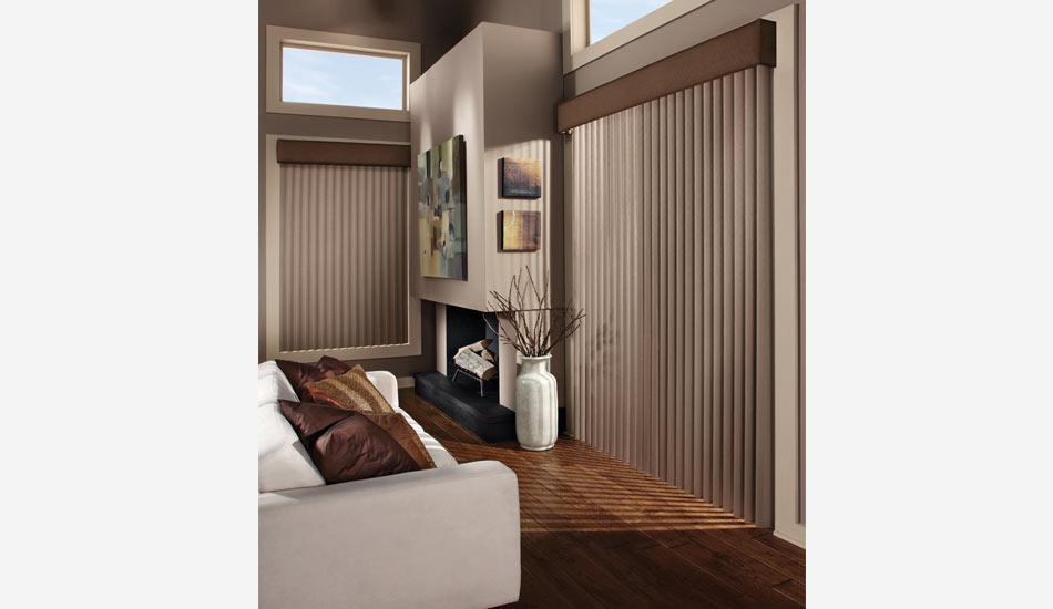 Cadence Vertical Blinds in Living Room