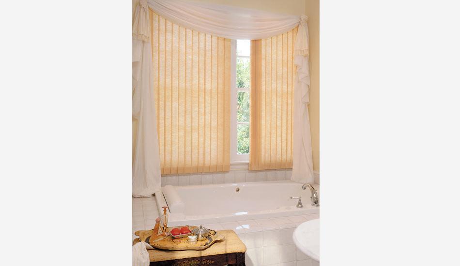 Hunter Douglas Vertical Solutions Blind in Bathroom