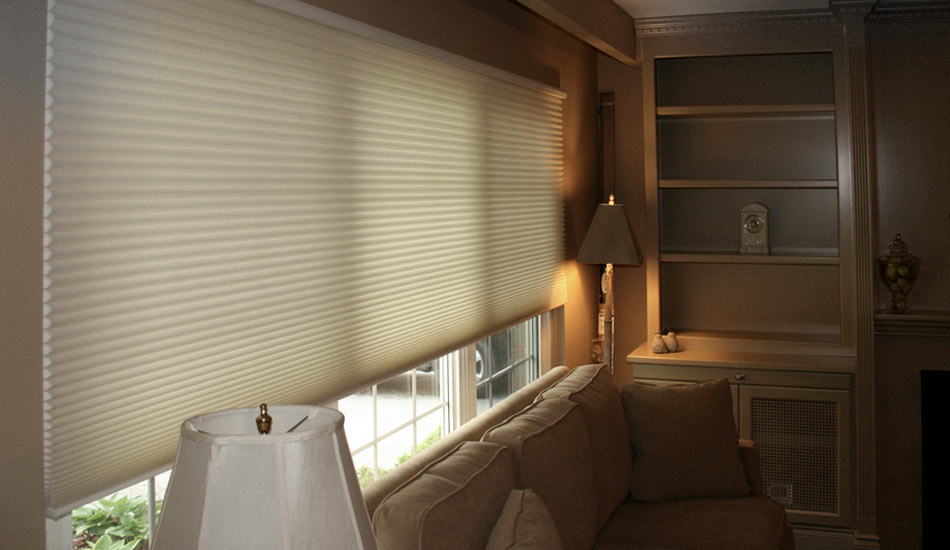 Hunter Douglas Cellular Shade in semi-opaque fabric