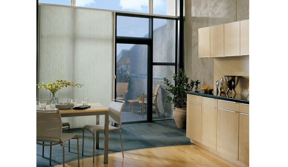 Hunter Douglas Duette Vertiglide in Kitchen