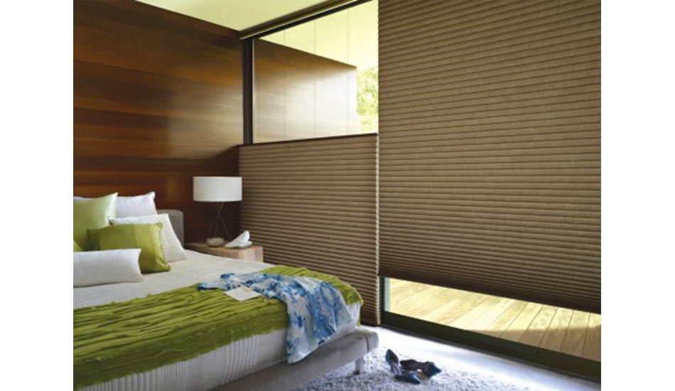 Cellular Shades with room darkening fabric are great for bedrooms!