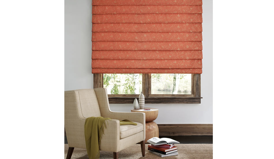 Designer Roman Shade with EasyRise lifting system