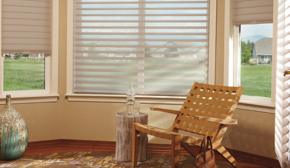 Cover your windows in the den with the Silhouette by Hunter Douglas