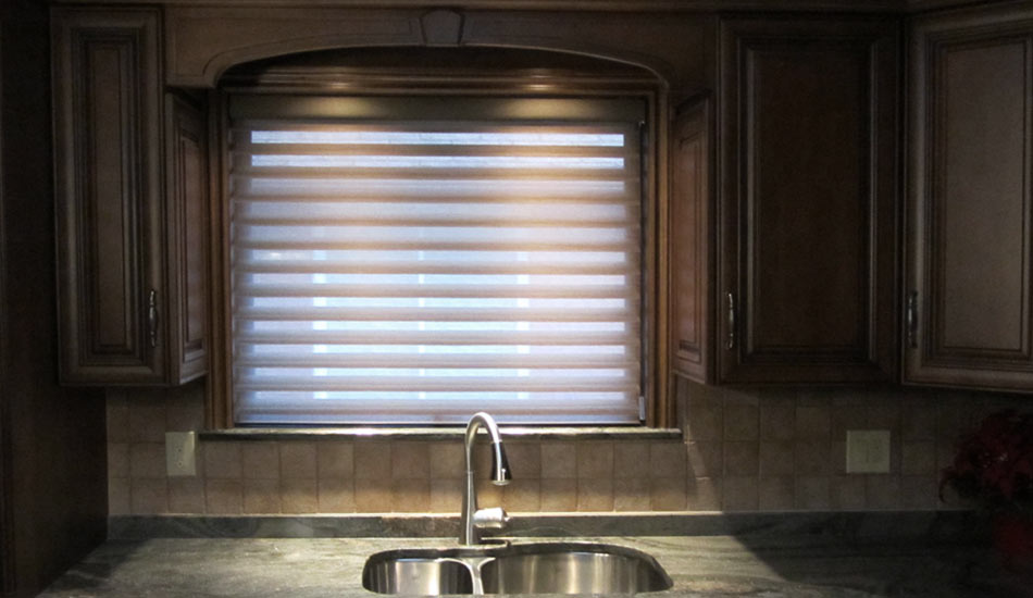 Silhouette above sink in kitchen