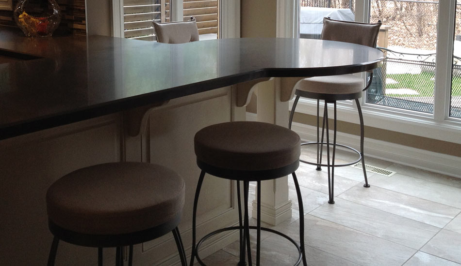 Trica Custom Barstools purchased at Blind Advantage